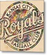 Kansas City Royals Logo Vintage Metal Print