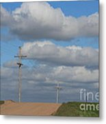 Kansas Country Road With Sky Metal Print