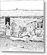 Kansas Early House, 1854 Metal Print