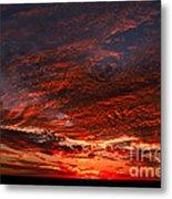 Kansas Prairie Sunset Metal Print