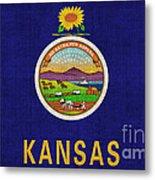 Kansas State Flag Metal Print