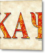 Kappa Alpha Psi - Parchment Metal Print