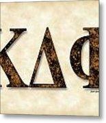 Kappa Delta Phi - Parchment Metal Print