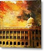 Karachi Port Metal Print by Catf