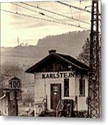 Karlstejn Railroad Shack Metal Print by Joan Carroll