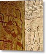 Karnak Temple Detail Metal Print