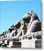 Karnak Temple Statue 14 Metal Print