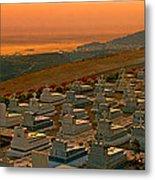 Karpathos Graveyard Metal Print