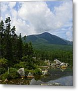 Katahdin From Sandy Stream Pond Metal Print
