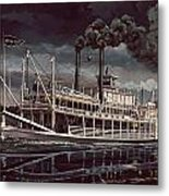 Spread Eagle Steamboat Night Metal Print