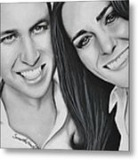 Kate And William Metal Print by Samantha Howell