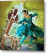 Kathak Dancer 4 Metal Print