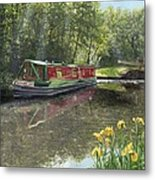 Kathleen May Chesterfield Canal Nottinghamshire Metal Print