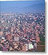 Kathmandu From The Airplane-nepal  Metal Print
