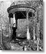 Kathy In Gazebo 1979 Metal Print
