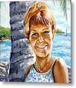 Kathy Smiles Metal Print