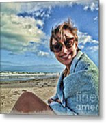 Katie And The Beach Metal Print