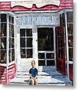 Katie At Bass Harbor Maine Metal Print by Lee Piper