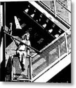 Katie-fire Escape Metal Print