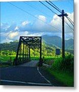 Kauai Bridge Metal Print
