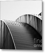 Kauffman Center Black And White Curves Photography Metal Print