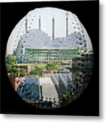 Kauffman Center For The Performing Arts Square Baseball Metal Print by Andee Design