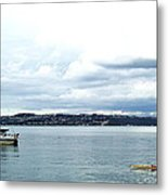 Kayak And Boat Metal Print