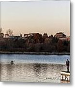 Kayak At Sunset Metal Print