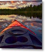 Kayak Sunset Metal Print