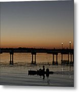 Kayaker Sunrise Metal Print