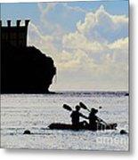 Kayaking Across The Bay Metal Print