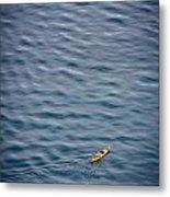 Kayaking Alone Metal Print