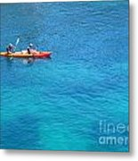 Kayaking At Calanque De Port Miou In Cassis France Metal Print