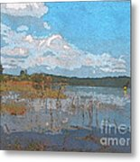 Kayaking At Lake Juliette Metal Print