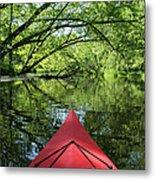 Kayaking Backwater Mississippi 1 Metal Print