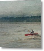 Kayaking In Port Dover Metal Print
