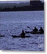 Kayaking Stonington Metal Print