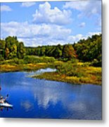 Kayaking The Moose River - Old Forge New York Metal Print by David Patterson