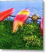 Kayaks At Lake Galena Metal Print