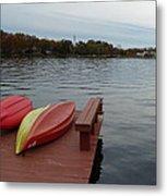 Kayaks By The Lake Nj Metal Print