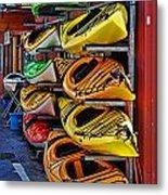 Kayaks Hdrbt3226-13 Metal Print
