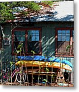 Kayaks Surfboards And Bikes - The Good Life Metal Print