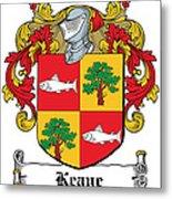 Keane Coat Of Arms Clare Ireland Metal Print