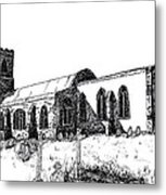 Kedington Church Metal Print