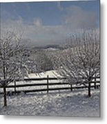 Kedron Valley After A Snow Metal Print