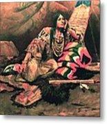 Keema Indian Princess Metal Print