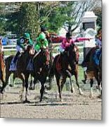 Keeneland Run Metal Print