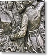 Keep Moving - Charge Of The 106th Pa Volunteer Infantry To The Emmitsburg Road Detail-a Gettysburg Metal Print by Michael Mazaika