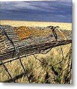 Keep The Gate Post Steady Metal Print