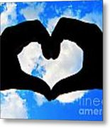 Keep Your Heart In The Clouds Metal Print